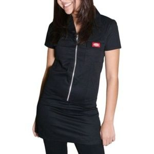 Dickies Girl Black Zip Up Dress Mini Dress Waitres